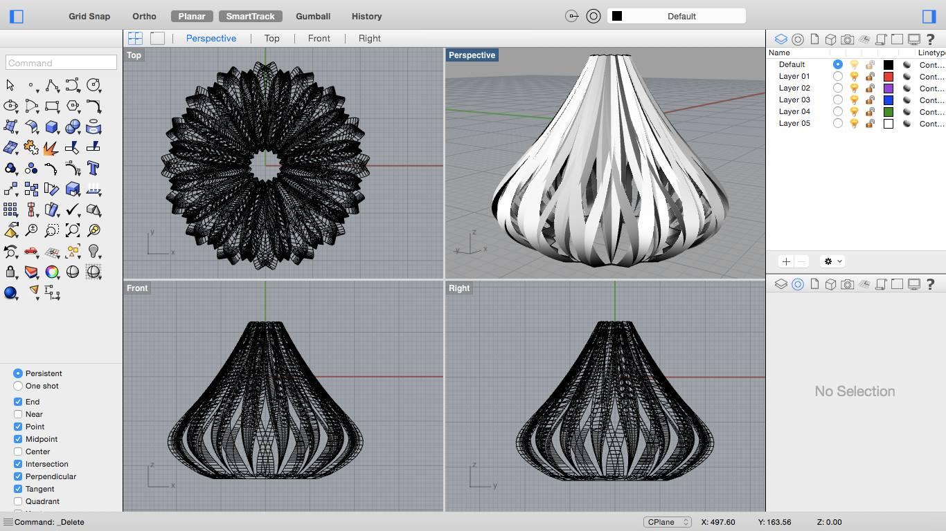 Rhinoceros 3D modellező szoftver