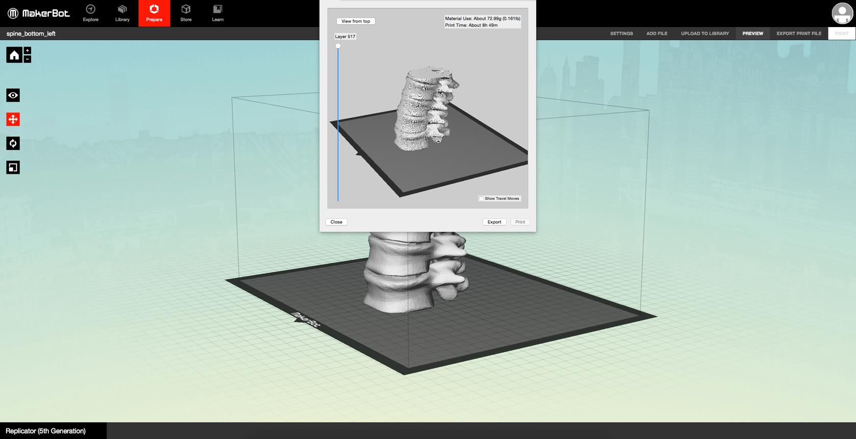 orvosi 3D modell előkészítése 3D nyomtatásra