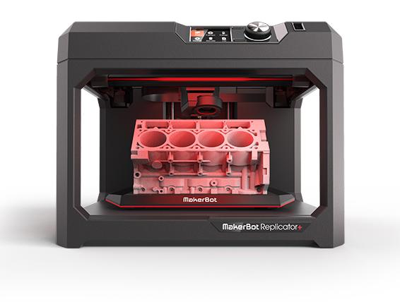 Makerbot Replicator+ műanyag szálolvasztásos 3D nyomtató okos nyomtatófejjel