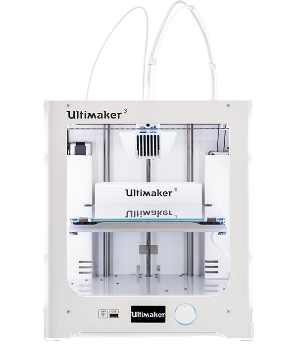 Ultimaker 3 kétfejes, műanyag szálolvasztásos 3D nyomtató