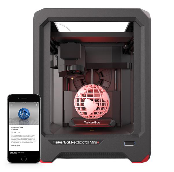 Makerbot Mini+ hordozható, műanyag szálolvasztásos 3D nyomtató
