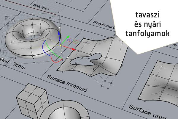 RHINOCEROS 3D MODELLEZŐ TANFOLYAM